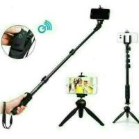 Paket Selfie Yunteng Tongsis Bluetooth YT 1288 + mini Tripod YT 228