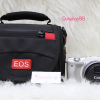 tas mirrorless canon / camera canon bag - eos m - eos m2 - eos m3 - eo