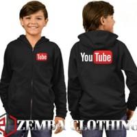 Jaket Sweater Anak Youtube - Zemba Clothing