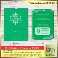Undangan Pernikahan Single Hardcover Dinna & Dody - Tangerang