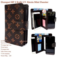 Dompet hp wanita alexia kulit lv mini 2hp up to 5inc mono