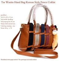 tas wanita korean style fence coklat