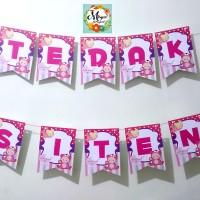 BUNTING FLAG TEDAK SITEN / AQIQAH / HAPPY BIRTHDAY / TASYAKURAN