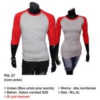 GFP - Kaos Couple Polos Lengan Panjang POL 27