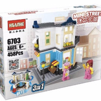 Brick HSANHE 6703 3 in 1 City Street ~ Market Shop ~ Mainan Lego