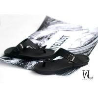 harga Full Black Birkenstock Gizeh Sandal / Sendal Jepit Pria Premium Tokopedia.com