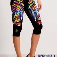 Jual capri adidas run 3/4 PRINT,untuk zumba,yoga dan fitnests Murah