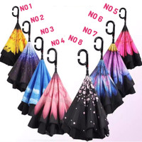 Jual Kazbrella payung motif terbalik /Upside down umbrella Murah