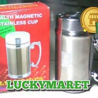 Gelas Mug Magnet Kesehatan | Stainless Magnetic Cup | Air Hexagonal