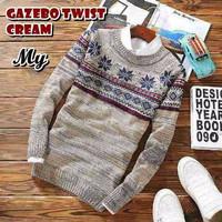Jual sweater rajut pria GAZEBO TWIST CREAM Murah