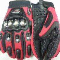 Sarung tangan madbike besi merah / glove madbike metal red