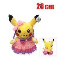 Boneka Pokemon Pikachu Wisuda Pita Pink Lucu Hadiah Ultah/Graduate