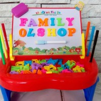 Jual meja belajar papan tulis anak Murah
