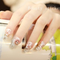Lace Nail Sticker / Sticker kuku / Lace Nail Art / Lace Design