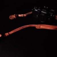 Strap kamera original leather Imagi L001 with custom embossing name