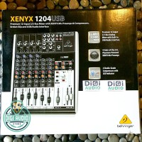 Behringer XENYX 1204USB ( 1204 USB ) 12 Chn mixer audio with SOUNDCARD