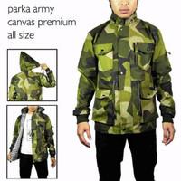Jaket parka army pria keren [green]