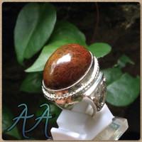 Cincin Batu Alam Akik Lumut Pacitan Natural moss jasper/agate antik !!