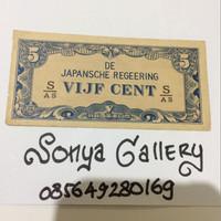 uang kuno, uang lama, uang penjajahan jepang, 5 cent