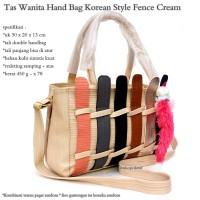 Jual hand bag import korean style fence cream Murah