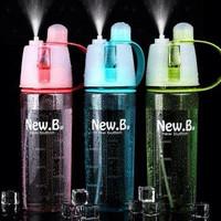 New B Sports Spray Water Bottle Botol Minum/Sprayer BPA Free 600ml