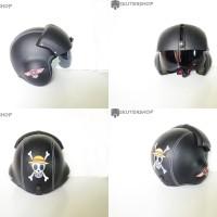 harga Helm Pilot Bro.co Black Solid Motif One Peace Feat Harley Logo Tokopedia.com