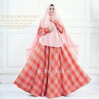 Gamis Syari Modern Setelan Baju Pesta Wanita Muslim Kotak SELENA