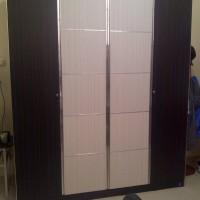 Lemari Pakaian Siantano 4 pintu Black n White Free Ongkir Bandung