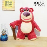 boneka lotso tongkat 25cm toy story impor lotso impor
