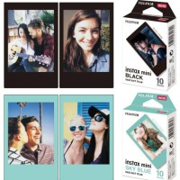 Refill Fujifilm Instax mini Black atau Sky Blue - isi 10 lembar