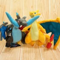 006 Boneka Mega Charizard X dan Y 30cm Satu Set Boneka Pokemon