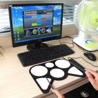 harga Portable Usb Drum Player For Pc & Laptop, 6 Pad Drumer + Stick Tokopedia.com