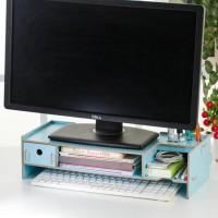 Meja Laptop Kayu Portable Rak Buku Minimalis Desktop Storage Furniture