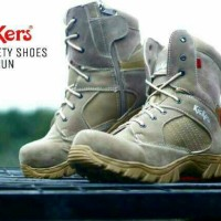 Sepatu Boot Pria kickers delta safety gurun kulit suede-outdoor