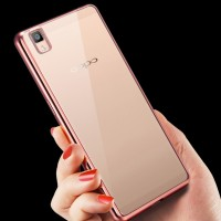 Softcase CHROME Oppo R7 / R7s Casing HP Cover Silicone Case Ultrathin