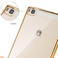 Softcase CHROME Huawei P8Lite P8 Lite ALE-L21 Casing TPU Cover Case HP