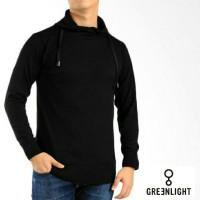 Jual Jaket Sweater Rajut Harajuku Greenlight Pria Premium Hitam Murah
