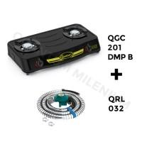 Jual Paket Kompor Gas QGC 201 DMPB dan Selang Regulator Gas QRL 032 Quantum Murah