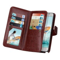 Flip Case Leather Wallet Dompet Kulit Cover Casing Samsung Galaxy S5