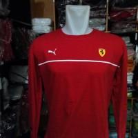 Best Seller Kaos Baju T-shirt puma Ferrari Long sleeve