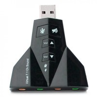 USB 2.0 to Virtual 7.1 Channel Audio Sound Card Adapter