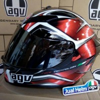 AGV K5 Hurricane Black Red + Iridium Gold Visor