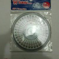 Penggaris Busur / Penggaris Lingkaran / Penggaris 360 Derajat