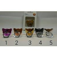 Jual I Ring Stand Cat Crum / Stand Holder Kepala Kucing Metalic Murah