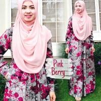 Gamis Katun Jepang Pink Berry Dresslim Original Termurah