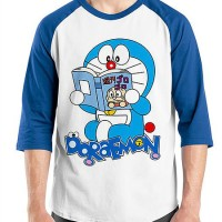 Jual Raglan Doraemon 05 - Baju Kaos Lucu Distro Ordinal Murah