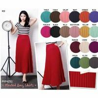 Jual rok plisket / pleated long skirts Murah