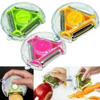 Alat Pengupas Sayur Dan Buah Multifungsi Rotary Peeler 3 in 1