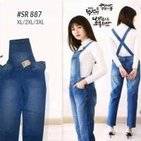 Harga overall jeans tebal jumbo xxxl xxl xl tanpa inner baju kodok | Pembandingharga.com