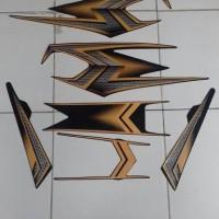 Stiker/striping RX King 2004 SE hitam gold